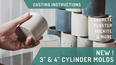 "9 Tips On How To Cast Our NEW 3"" & 4"" Concrete Cylinder Silicone Molds"