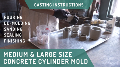 Concrete Casting Instructions: Cylinder Planter Molds