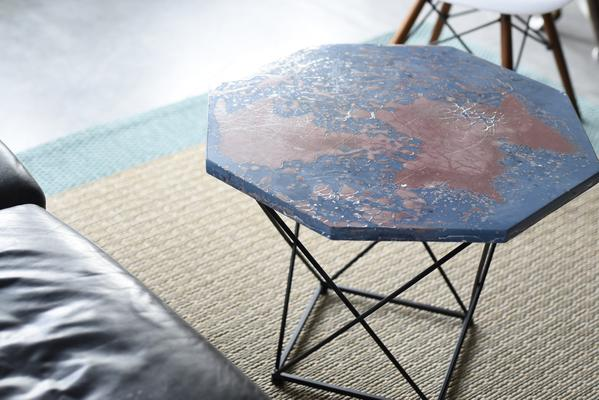 custom handmade concrete geometric table
