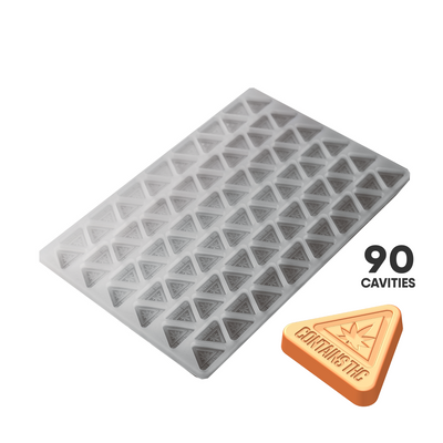 TRIANGLE CANDY SILICONE MOLD - MASS REGULATORY SYMBOL - 90c FOOD GRADE PLATINUM SILICONE