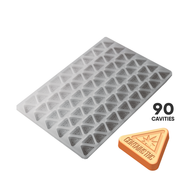 TRIANGLE CANDY SILICONE MOLD - MASS REGULATORY SYMBOL - 90c FOOD GRADE PLATINUM SILICONE PS43