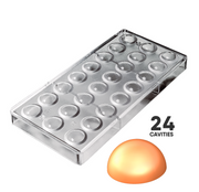 22mm DOME CHOCOLATE - POLYCARBONATE CHOCOLATE MOLD #C3010