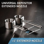 "Universal Depositor Extended Nozzle +1.0"" - One Inch Longer Nozzle"