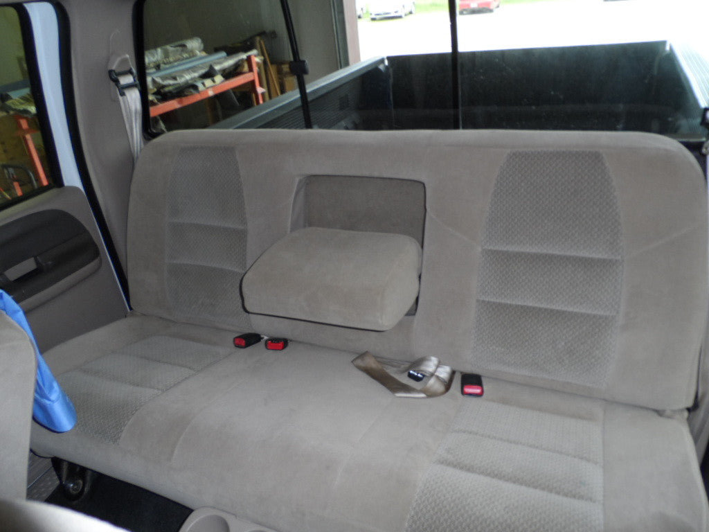 Ford F-250/350 Crew Cab Rear Bench Seat with an Armrest