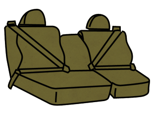Ford F-150 40/60 Belted Front Seats with Adjustable Headrests