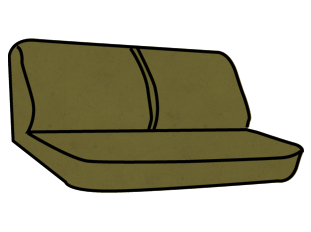 Ford F-150/250/350 Front Bench Seat with a 50/50 Backrest