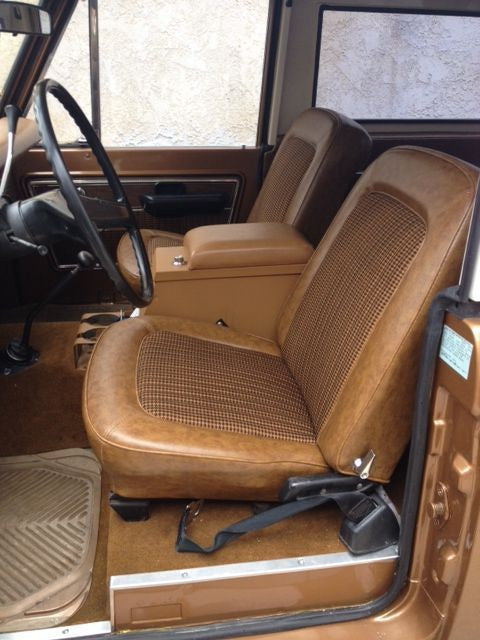 Ford Bronco Bucket Seats with Molded Headrests