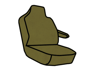 Ford F-150/250/350 Lariat Captain Chair with Molded Headrests