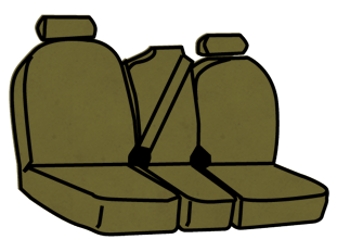 Ford Expedition 2nd Row 40/20/40 Non-Removable Headrests