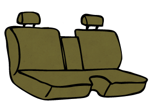 Toyota Tacoma Bench Front Seat with a 40/60 Back and Armrest
