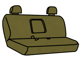 Toyota T100 Bench Seat (with Curve in Seat) with an Armrest