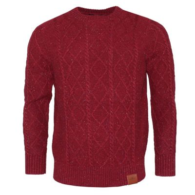 Wool Blend Knit - Burgundy