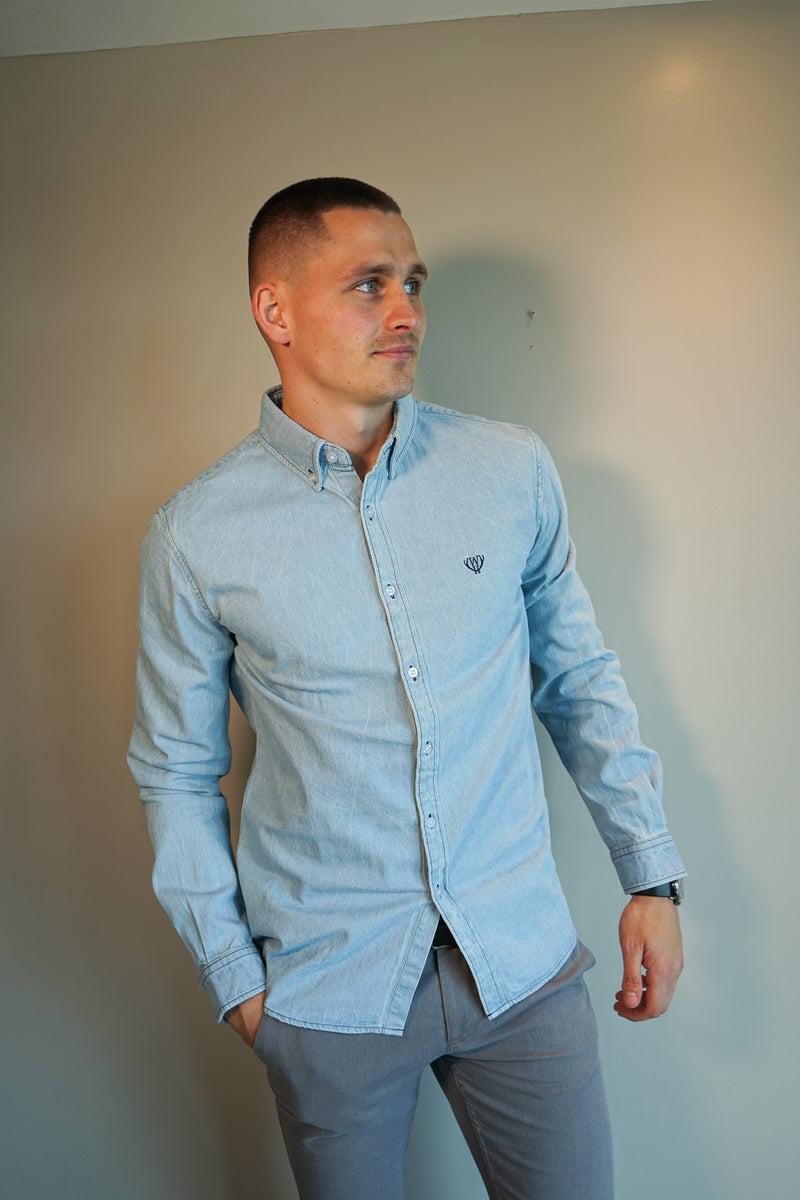 Light Blue Denim Shirt - Slim Fit
