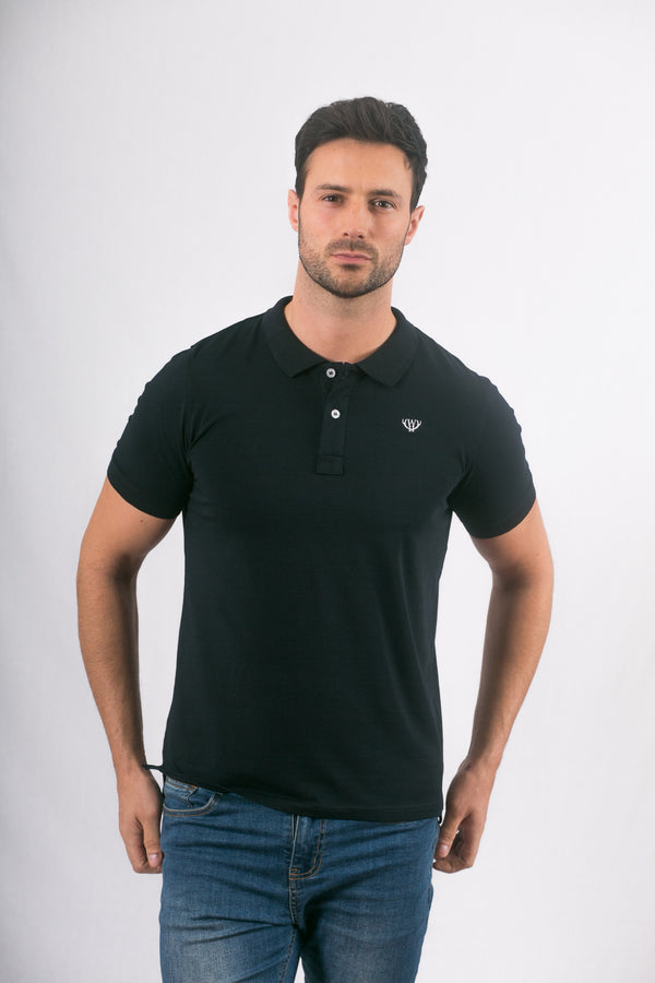 Navy Stretch Polo Shirt