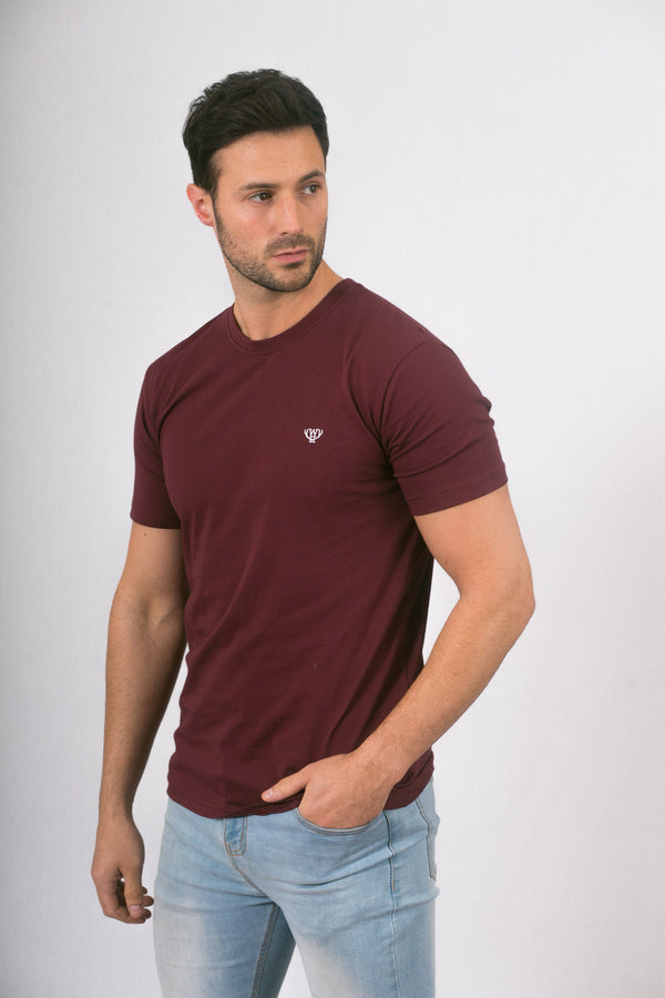 Burgundy Cotton T-Shirt