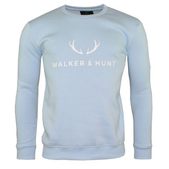 Light Blue Sweatshirt Sweaters Walker & Hunt