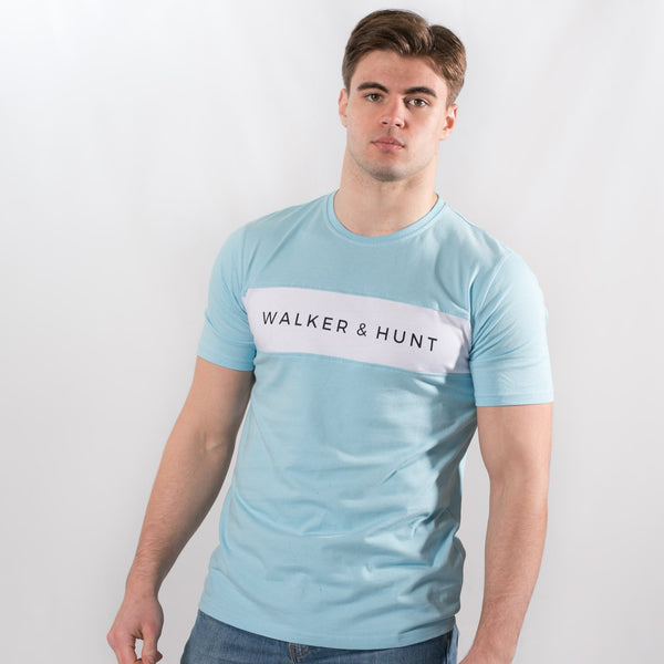 Light Blue Panelled T-Shirt