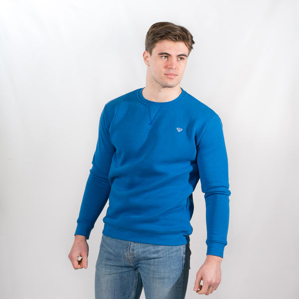 Blue V-Stitch Sweatshirt