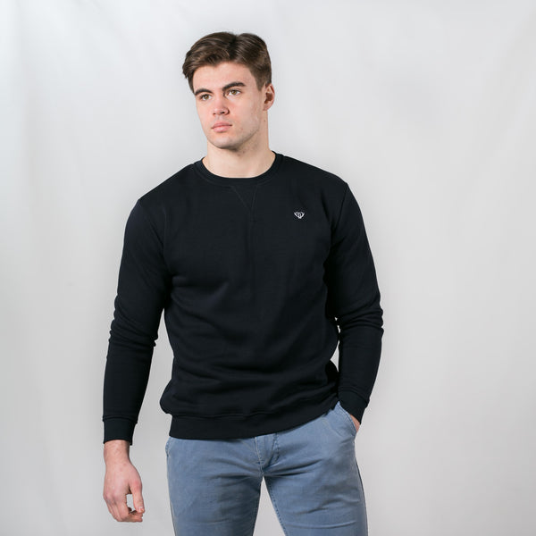 Navy V-Stitch Sweatshirt