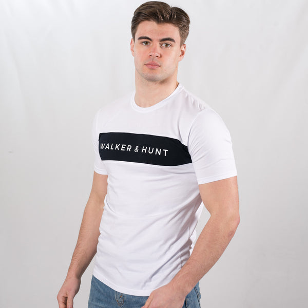 White Panelled T-Shirt