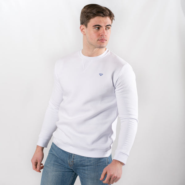 White V-Stitch Sweatshirt