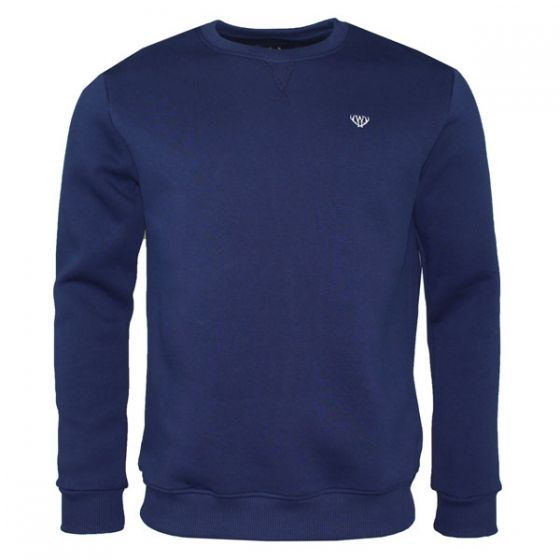 Navy Blue V-Stitch Sweatshirt