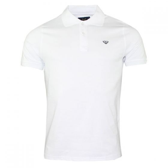 White Stretch Polo Shirt