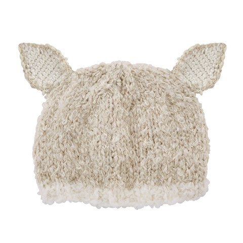 Cream Lamb Knit Hat