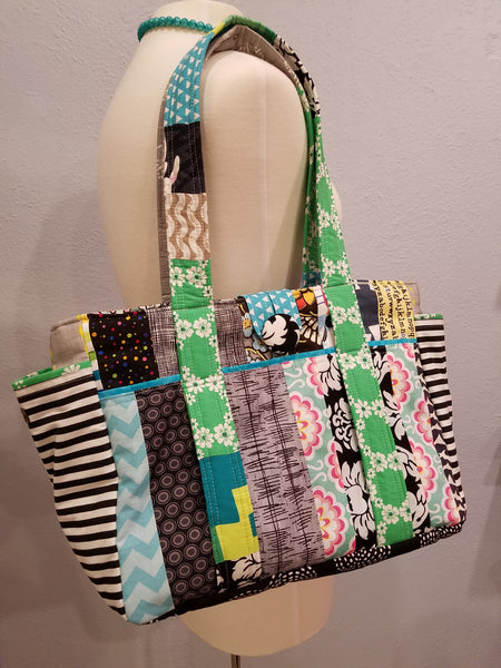 Diaper Bag - Blue Black Green Multi