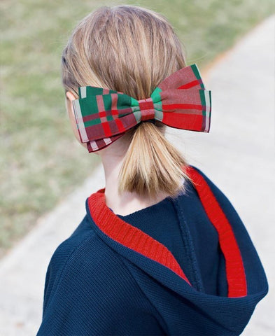 Kennedy Plaid Hair Bow