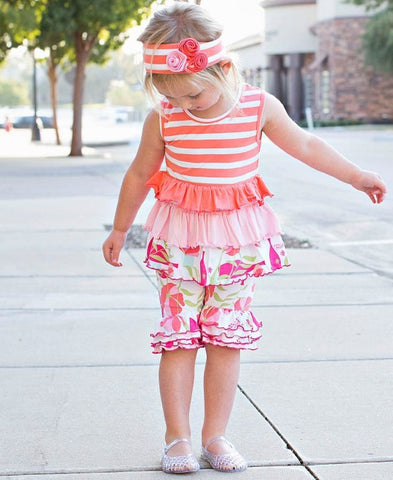 Sweet Stems Ruffle Bermuda Shorts
