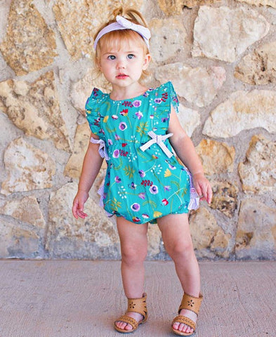 Sweet Meadow Ruffle Romper