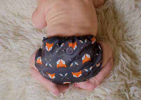Buttons Newborn Diaper Cover - Prints