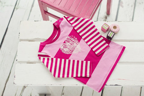 Blade & Rose Top - Pink Stripe with Heart