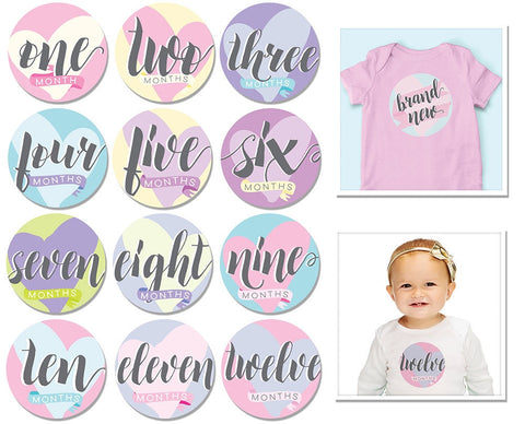 Sticky Bellies Hello Baby Girl Stickers