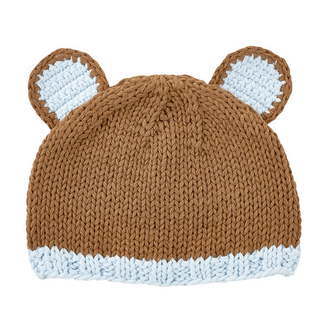 Brown Bear Knit Hat
