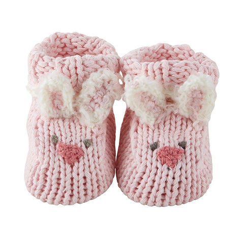 Pink Bunnie Knit Booties