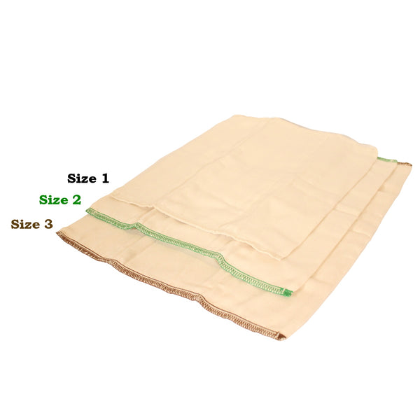 Buttons Cotton Prefolds - Unbleached 6 pk.