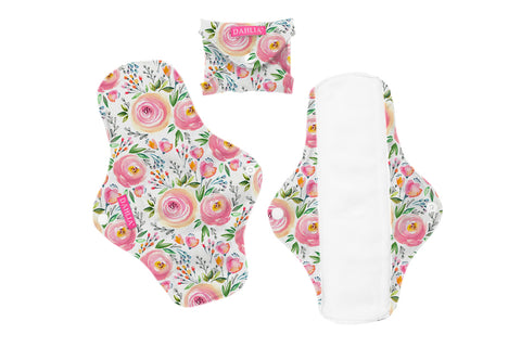 Dahlia Cloth Feminine Pads - Small (3 pk)