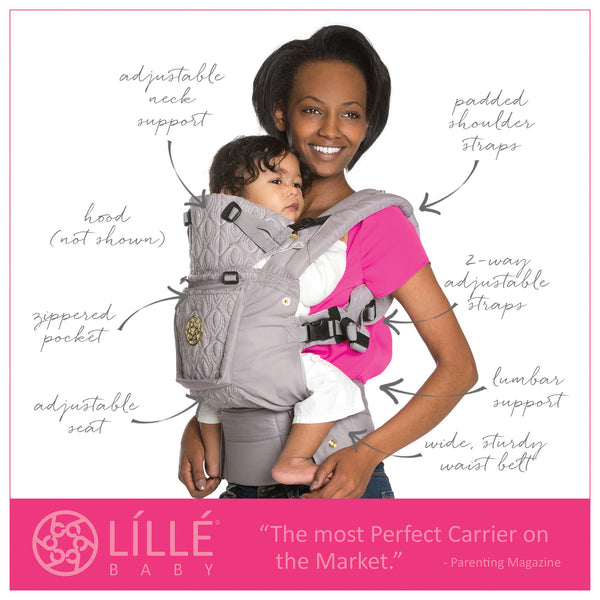 Lillebaby Complete Embossed Baby Carrier - Pewter