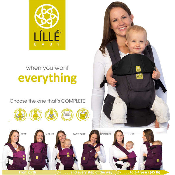 Lillebaby Complete Original Baby Carrier - Charcoal & Black