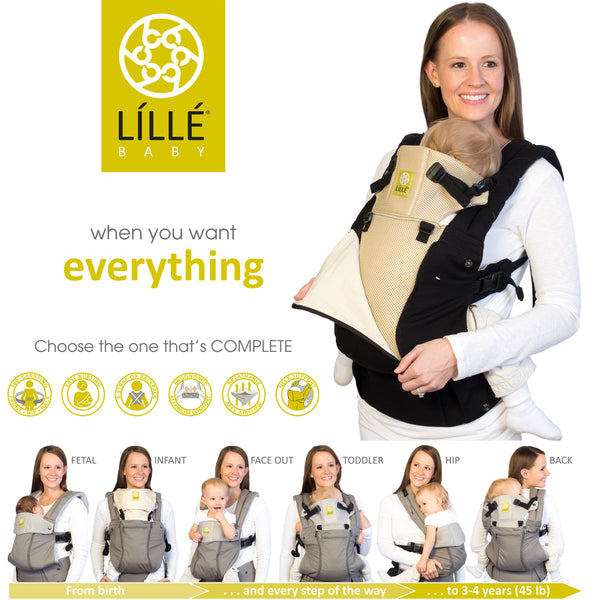 Lillebaby Complete All Seasons Baby Carrier - Black & Camel
