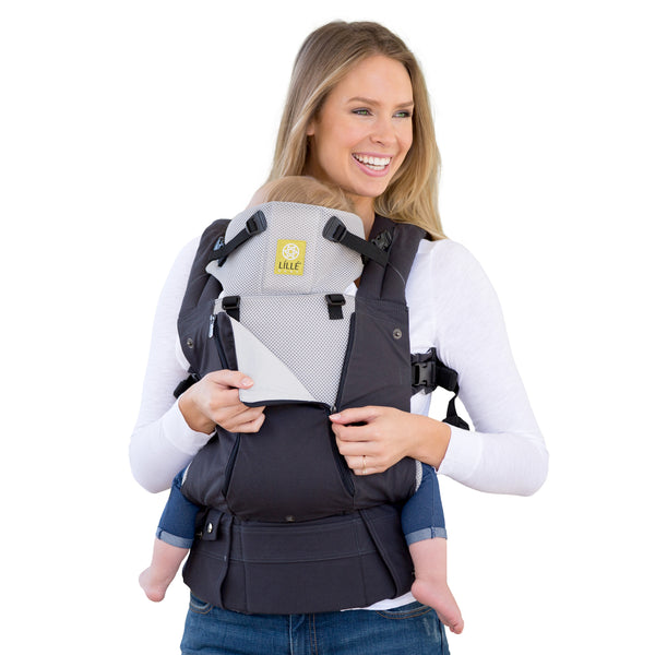 Lillebaby Complete All Seasons Baby Carrier - Charcoal & Silver