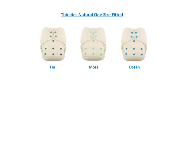 Thirsties Natural One Size Fitted