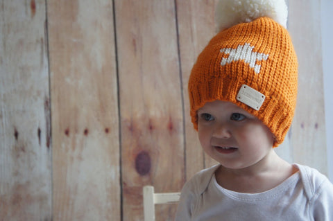 Bobble Hat - Orange Star