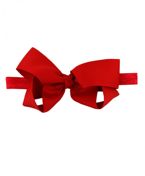Red Bow Headband