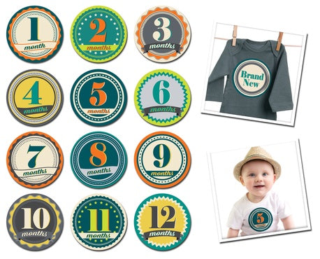Sticky Bellies Badge Boy Stickers