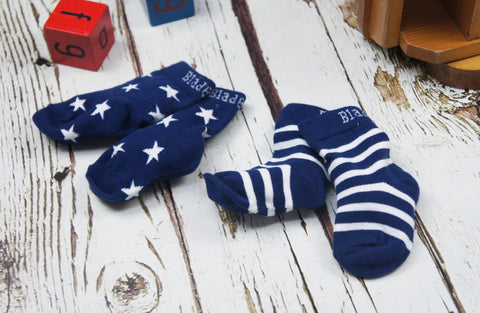 Blade & Rose Socks - Navy & White