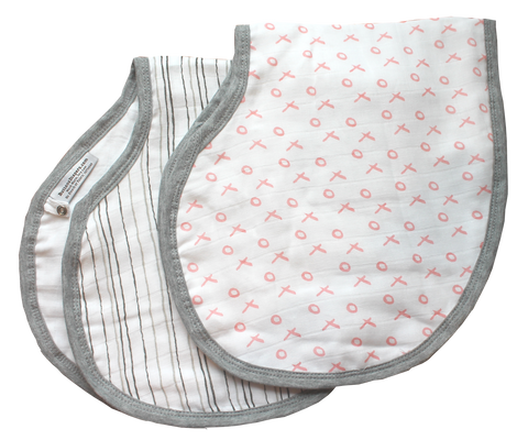 100% Muslin Burp Cloth Bib Combo - 2 pk.