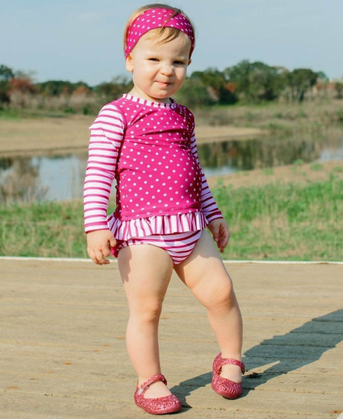 Berry Polka Dot SwimWear Headband